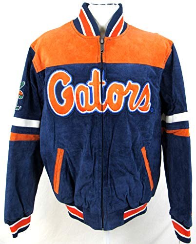 G-III Sports Mens University of Florida Gators Suede/Soft Leather Jacket with Embroidered Graphics, Size Medium