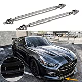 "2pc Adjustable 8""-11"" Front Bumper Lip Splitter Diffuser Strut Rod Tie Bars Splitter Support Rods Fit Most Vehicles[Silver]"