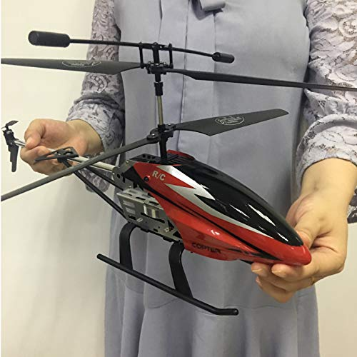 GLORY168 Remote Control Helicopter Glory with 2pcs Batteries 3.5GHZ Channel,50cm Length Large Size Alloy RC Helicopter Toy and Gyro- Red for Kids and Adults