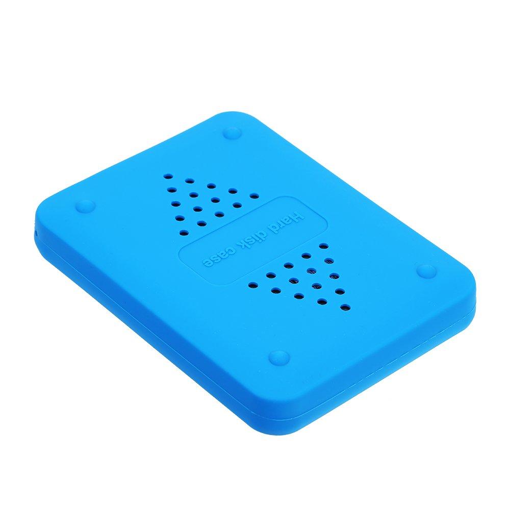 Docooler Protector de la Cubierta del Disco de la Unidad de Disco Duro de la Caja de Silicona HDD de 2.5 Pulgadas ...