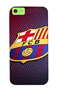 Premium Fc Barcelona Football Soccer Jersey Back Cover Snap On Case For Iphone 5c