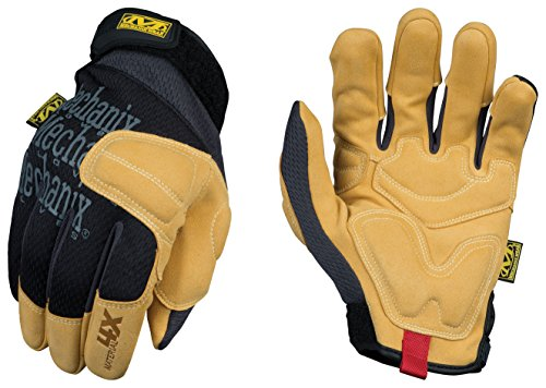 Mechanix Wear - Material4X Padded Palm Work Gloves (X-Large, Brown/Black)