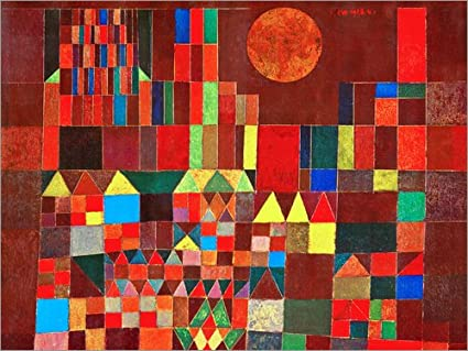 Poster 40 x 30 cm: Castle and Sun by Paul Klee art print, new art ...