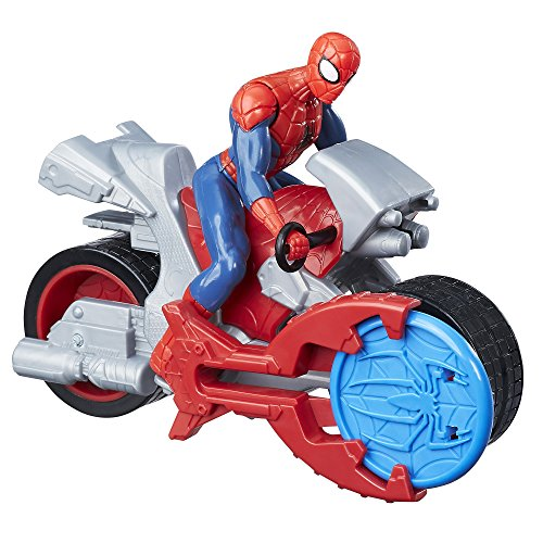 Spider-Man B9994AS20 Marvel Blast N' Go Racer with Cycle