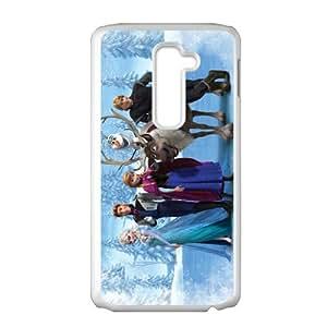 HDSAO Frozen Princess Elsa Anna Kristoff Olaf Sven Hans Cell Phone Case for LG G2