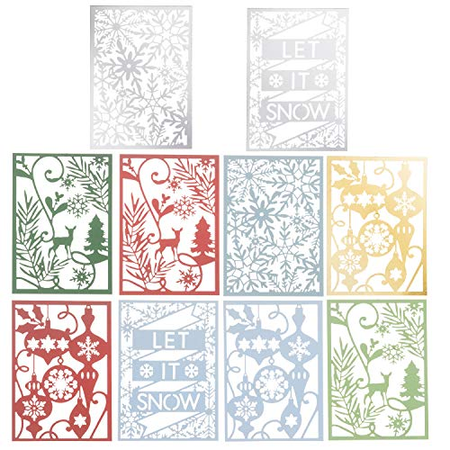 - Martha Stewart 30068356 Laser Cut Christmas Icons Paper Shapes, Multicolor