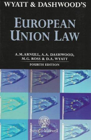 Wyatt and Dashwood's European Union Law PDF