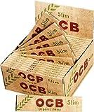 OCB 2100 Organic hemp Slim unbleached rolling paper, 50 Heftchen 32 Blatt