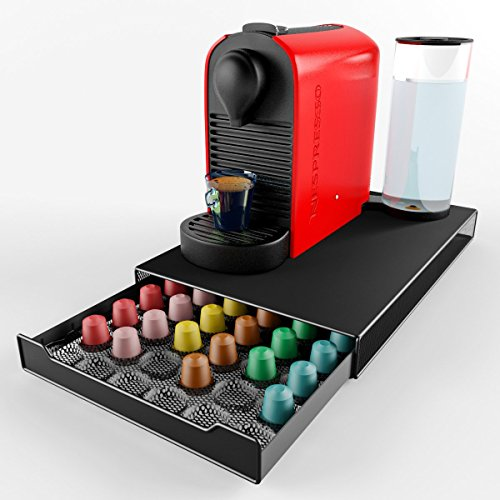 thecoffeebox nespresso coffee capsule holder storage drawer holds 60 nespresso pods cups. Black Bedroom Furniture Sets. Home Design Ideas