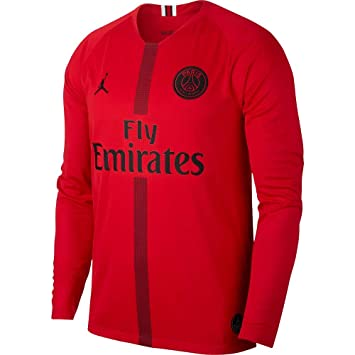 Nike 2018-2019 PSG Home Goalkeeper Football Soccer T-Shirt Camiseta (Red): Amazon.es: Deportes y aire libre