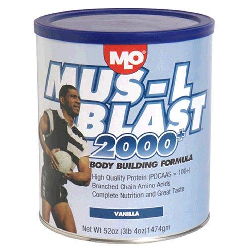 MLO Mus-L Blast Body Building Formula, Vanilla, 47-Ounce Tubs