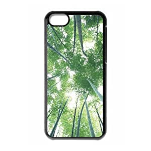 LZHCASE Diy Hard Shell Case Bamboo For Iphone 5C [Pattern-1]