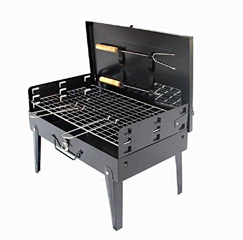 Grills Out Grills BBQ Grill Camping Outdoor Portable Barbecue Grill Camping Backyards Charcoal Barbecue Iron Quality Grill BBQ Utensil 3--5 People by HomJo