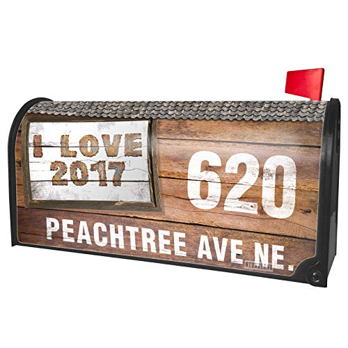 NEONBLOND Custom Mailbox Cover I Love 2017 Rusty Vintage Metal Welding]()