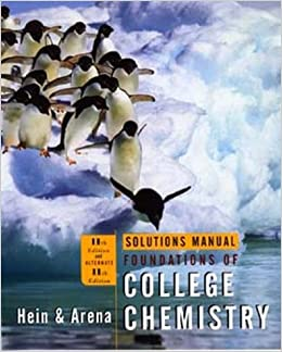 Book Solutions Manual to accompany Foundations of College Chemistry, 11th Edition and Alternate