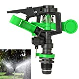 Iusun Water Sprinkler, 360 °Impulse Sprinklers Sprinkler Flower Plant Sprinkler Sprinkler for Garden (Green)