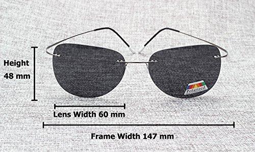 de Fashion 3 Aprigy polarizadas 8 de Gafas hombre ultraligeras titanio sol para SqTUwOxT