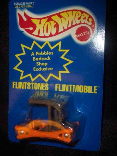 Flinstone's Flintmobile Pebbles Bedrockshop Exclusive Collectible Collector Car Mattel Hot Wheels