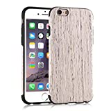iPhone 6s Case, Tendlin Premium Natural Wood Grain [Exact-Fit] Flexible TPU Hybrid Soft Slim Wooden Cover Case for iPhone 6 and iPhone 6s (Nordic Walnut Wood)