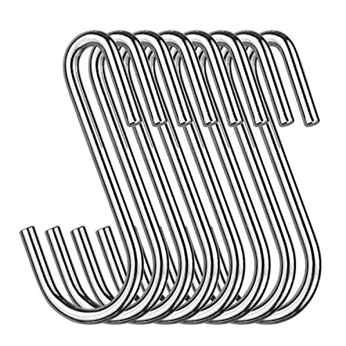 - NXG 30-Pack Pot Rack Hooks,Heavy Duty Carbon Steel Chrome Universal S Hook Sturdy Hanging Hooks,for Hanging Heavy Kitchen Wares,Cookers, Pots and Pot Pad Multiple uses