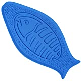 Newstarxy Dog lick pad, FDA Approved Pet Bath Distraction Toy - Peanut Butter Pad with Suction Cup and Bumper - Bath Helper Makes Easy and Funny Shower for dogs Fish Shape