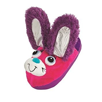 762ed6998bf Stompeez Bunny Slippers With Personality! Purple   Pink
