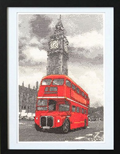Glory GNI Big Ben and Red Bus in London British Style Counte