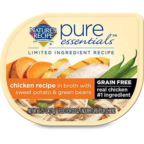 Nature's Recipe Pure Essentials Grain Free Chicken Recipe in Broth (Pack of 24), 2.75 oz