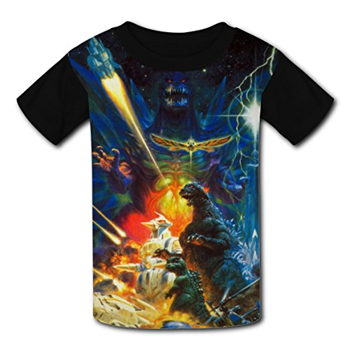 Project M All Special Costumes (Kid T-shirt Cool Godzillaa 3D Print Round Neck Short Sleeve Comfy Tshirts M)