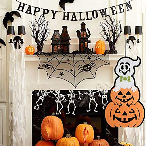 Halloween Indoor and Outdoor Hanging Door Decorations and Wall Signs Scary Party Supplies (E) by Coerni (Image #2)