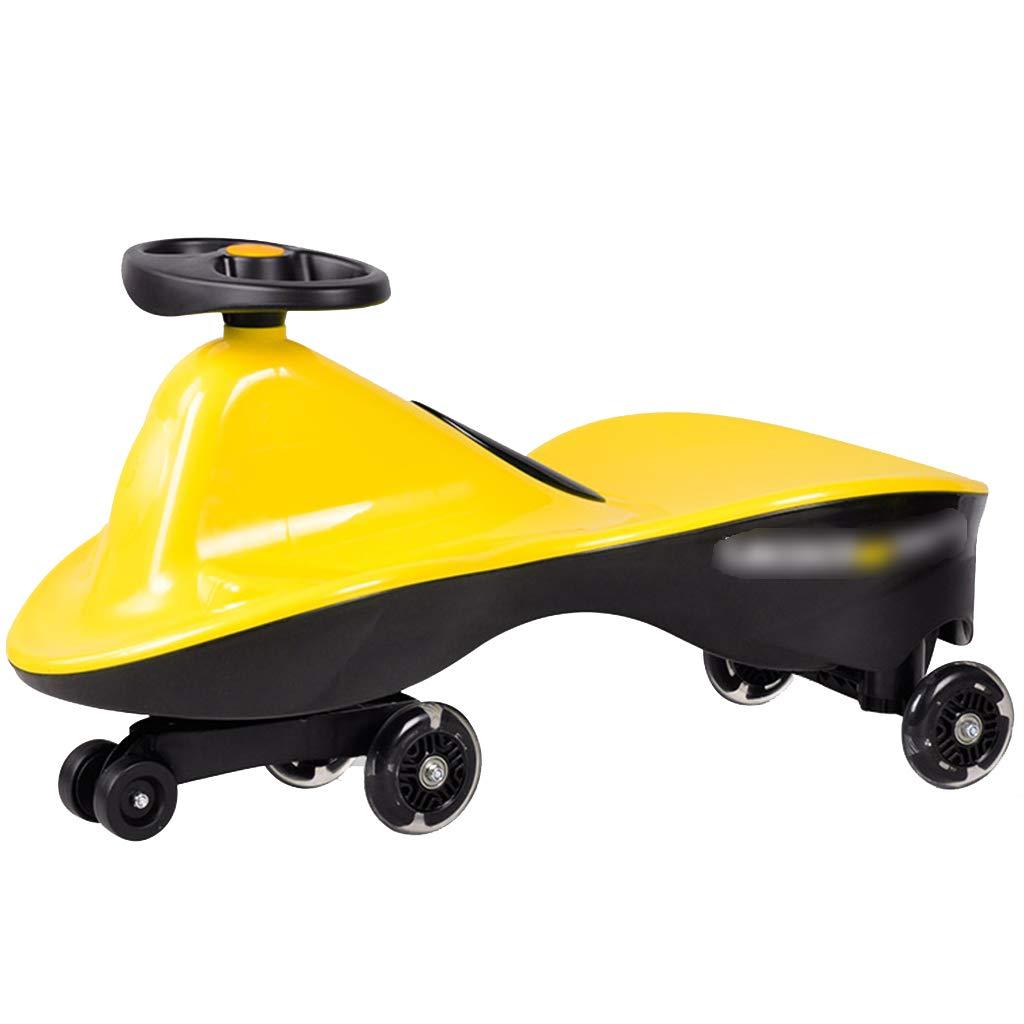 LiRuShop Bicicletas, triciclos y correpasillos Swing Car Twist Car Baby Twist Car Rueda Scooter Mute Flash Wheel Swing Car 1-3-6 años de Edad sin Necesidad de configurar, no Requiere batería