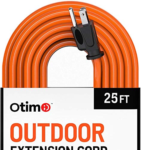 Otimo 25 Ft, 2 Pack 16/3 Outdoor Heavy Duty Extension Cord – 3 Prong Extension Cord, Orange