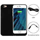 iPhone 6/6S Battery Charger Case - 3100mAh Cell Phone Battery Pack, Back Up Power Bank, Portable Charging Case for iPhone6 6S - MFI Apple Certified, Black