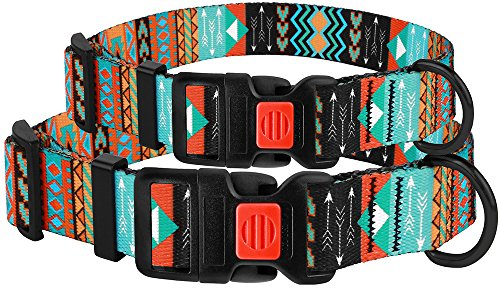 Pictures of CollarDirect Nylon Dog Collar with Buckle Tribal 4