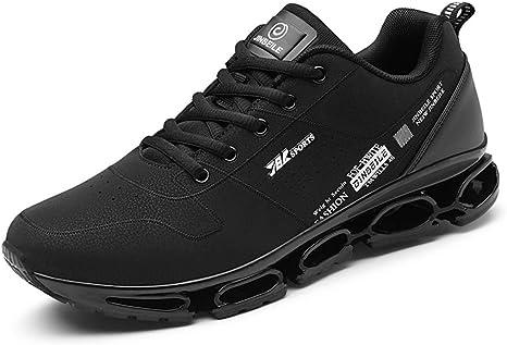 Shoe house Zapatillas de Running para Hombre, de Malla, Transpirables, Suaves, Casuales, atléticas, Ligeras, para Caminar, B, EU44=US9(M): Amazon.es: Deportes y aire libre
