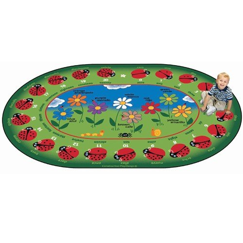 Constructive Playthings CKD-823 Bilingual Garden of Learning Rug 11'8