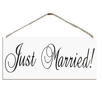 Fighting Holz Just Married Hochzeit Foto Requisiten Hochzeit Zeichen