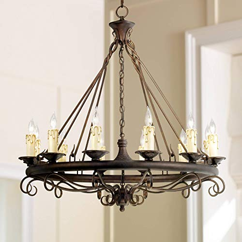 Rodeo Collection Round Twelve Light Chandelier - Franklin Iron Works ()