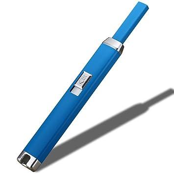 Vela Mechero USB cigarrillo encendedores batería resistente al viento sin llama de arco eléctrico largo alcance