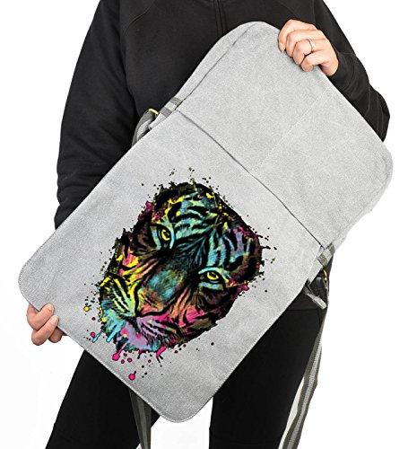 Umhängetasche/Tasche-Vintagelook mit Wildkatzen-Neon-Druck: Dripping Tiger cooler Look