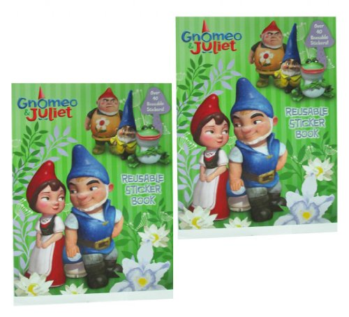 Gnomeo And Juliet the Movie Reusable Sticker Book (2 Pack) # 42849-2pk (Gnomeo And Juliet Ii)