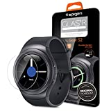 Gear S2 Screen Protector, Spigen® [Tempered Glass] Easy-Install Wings [Glas.tR SLIM] Most Durable Rounded Edge Glass for Samsung Gear S2 (2015) - Glas.tR SLIM (SGP11800)