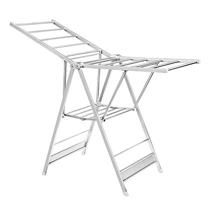 Amazon com: Drying clothes rack floor, folding, indoor