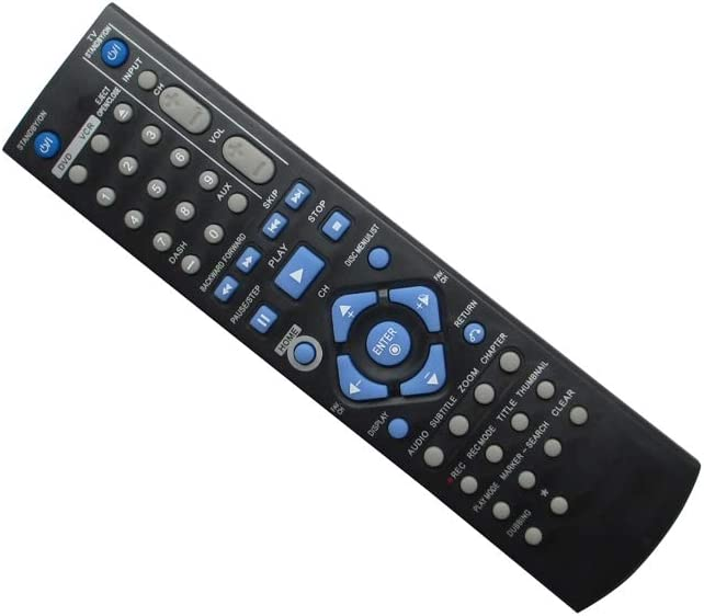 HCDZ Replacement Remote Control for JVC RM-SDRMV150A DR-MV150B RM-SDRMV79A RM-SDRMV80A DRMV80B DR-MV80B DR-MV77S DVD HDD Video Recorder