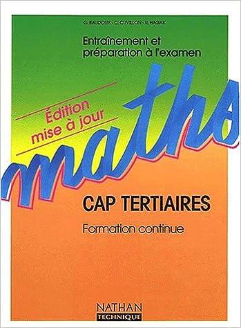 En ligne téléchargement Mathématiques CAP tertiaires pdf epub
