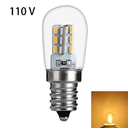 szdc88 Bombilla LED, E12 Base Hogar Nevera Cristal Luz Ahorro de ...