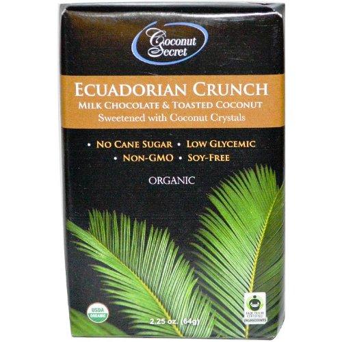 Coconut Secret Ecuadorian Crunch Milk Chocolate Bar, 2.25 Ounce (Pack of 12)