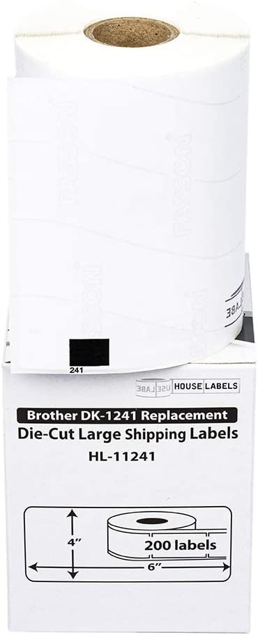 10Rolls For Brother DK-1241 White Shipping Labels 101mm*152mm W// Permanent Frame