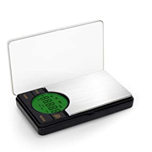 FVW Digital Mini Scale with LCD Backlit Display Pocket Scale,High Precision 500g x 0.1g Electronic Smart Weight Scale for Jewelry,Food Kitchen,Powder,Coins,Gold or Silver