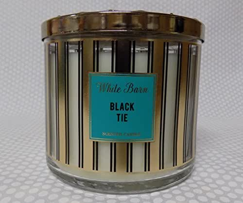 Bath and Body Works White Barn Candle in Black Tie (Sandalwood, Tonka bean)